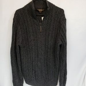 NWT Tasso Elba Sweater Size Large charcoal gray